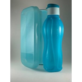 Sticla Eco Tupperware 750ml albastra si o casorola asortata