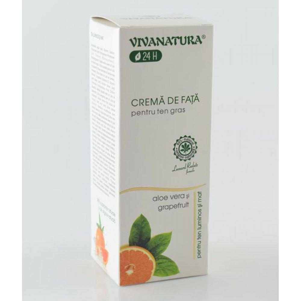 Crema de fata pentru ten gras Vivanatura 75ml